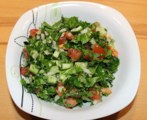 Arabischer Petersiliensalat